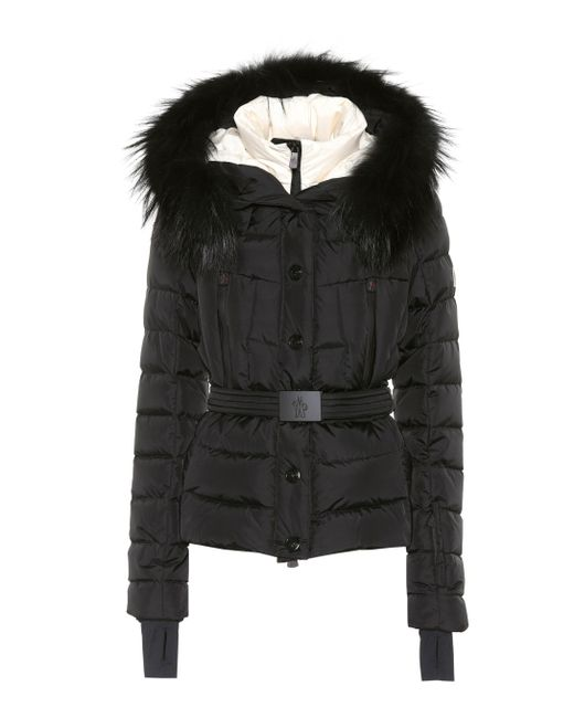 Moncler Grenoble - Black Beverley Fur-trimmed Ski Jacket - Lyst