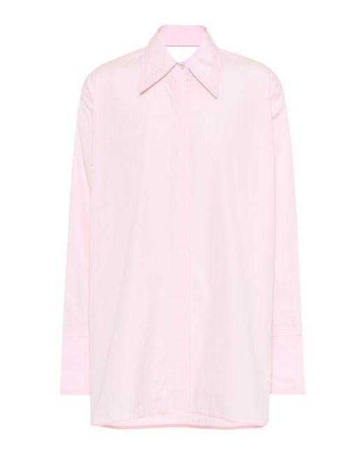 Helmut Lang - Pink Cutout Cotton Shirt - Lyst
