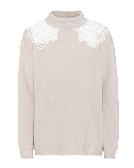 Chloé - Natural Wool And Cashmere Sweater - Lyst