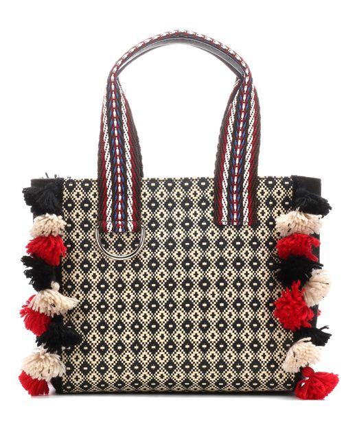 Etro - Multicolor Raffia Shoulder Bag - Lyst