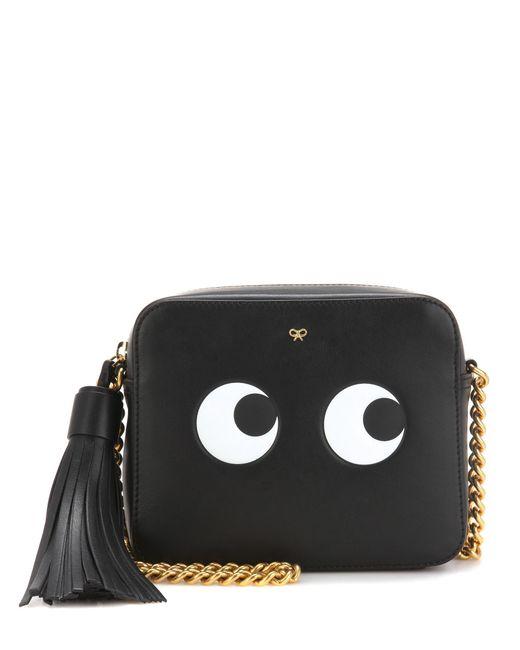 Anya Hindmarch | Black Eyes Right Leather Crossbody Bag | Lyst
