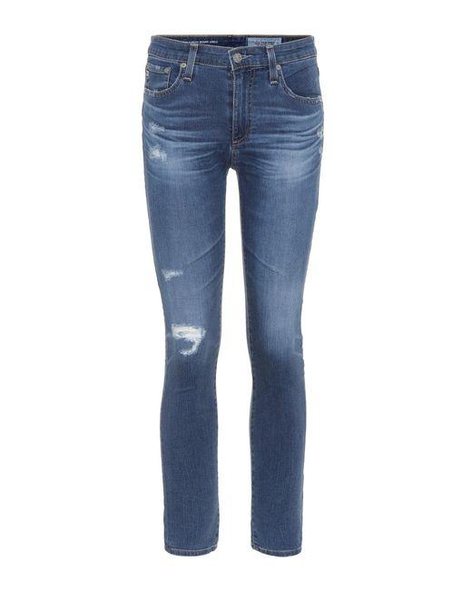 AG Jeans | Blue The Farrah High-waisted Skinny Jeans | Lyst