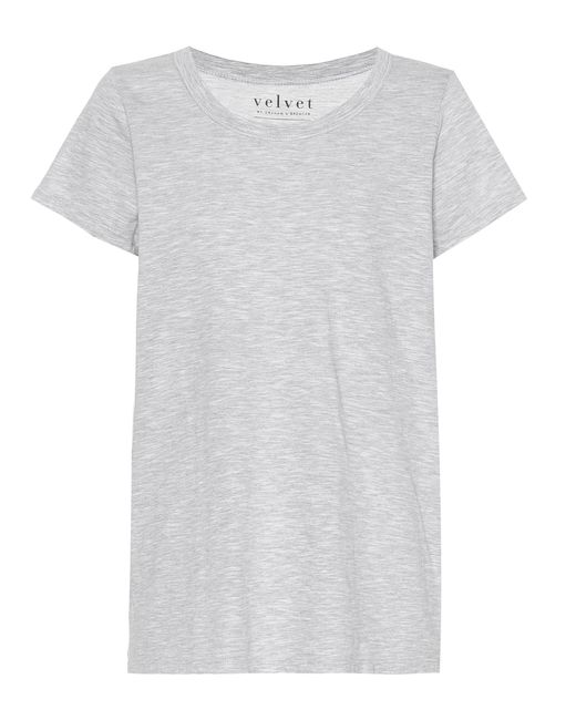 Velvet | Gray Tilly Cotton T-shirt | Lyst