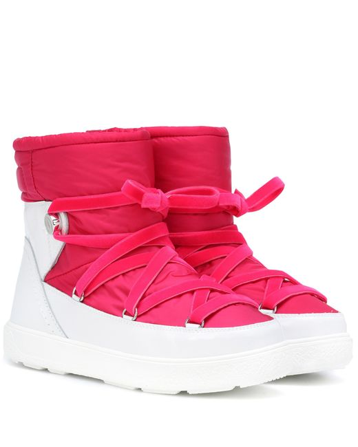 Moncler Pink Stephanie Ankle Boots