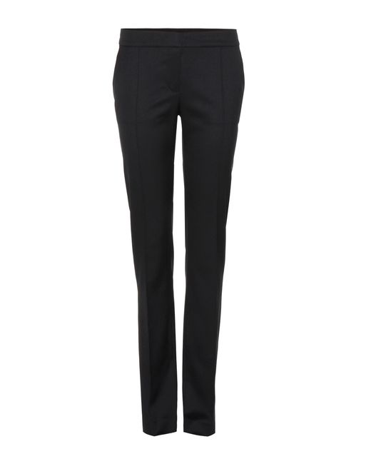 Stella McCartney - Black Anna Wool Straight-leg Trousers - Lyst