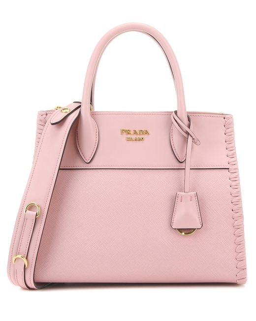 Prada - Pink Saffiano Leather Tote - Lyst