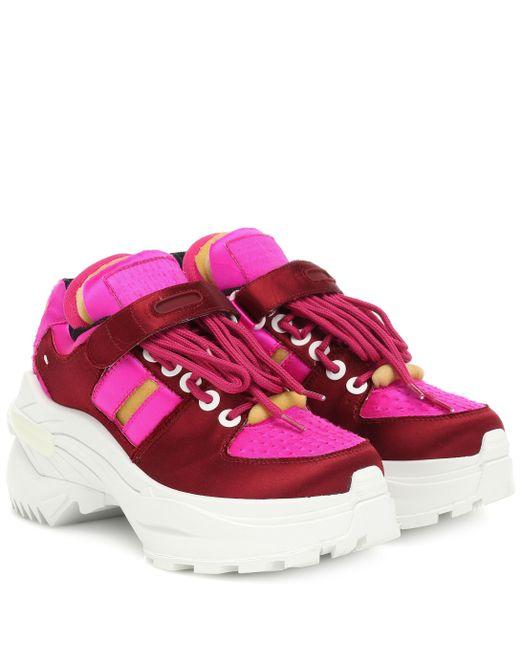 Maison Margiela - Pink Retro Fit Satin Sneakers - Lyst