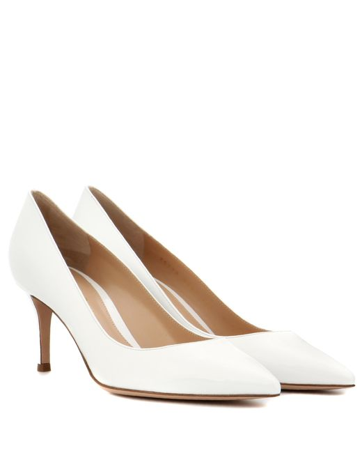 Gianvito Rossi - White Exclusive To Mytheresa. Com – Gianvito 70 Patent Leather Pumps - Lyst