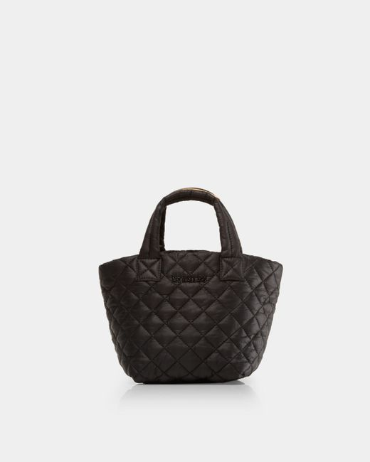 MZ Wallace - Quilted Black Micro Metro Tote - Lyst