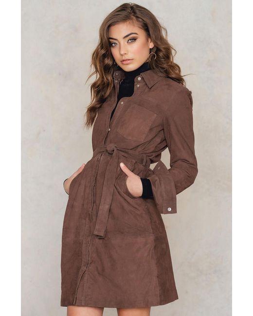 Gestuz | Brown Panama Dress | Lyst