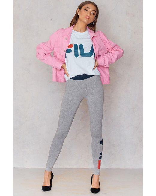 Fila | Gray Imelda Leggings | Lyst
