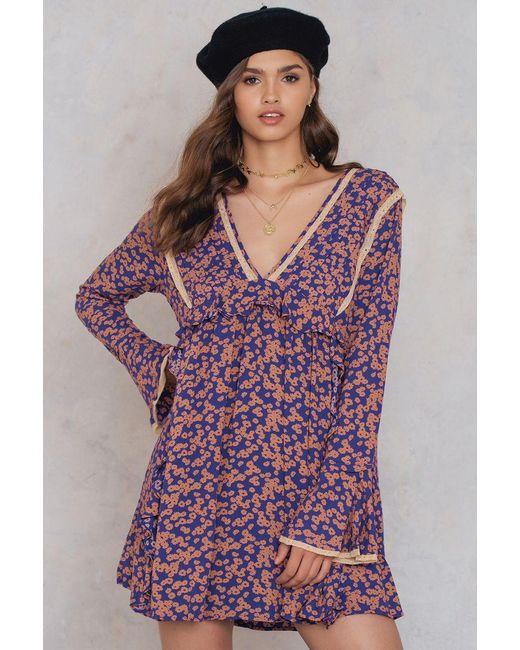 Free People   Purple Like You Best Mini Dress   Lyst