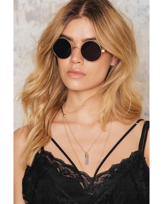 NA-KD   Brown Basic Round Sunglasses   Lyst