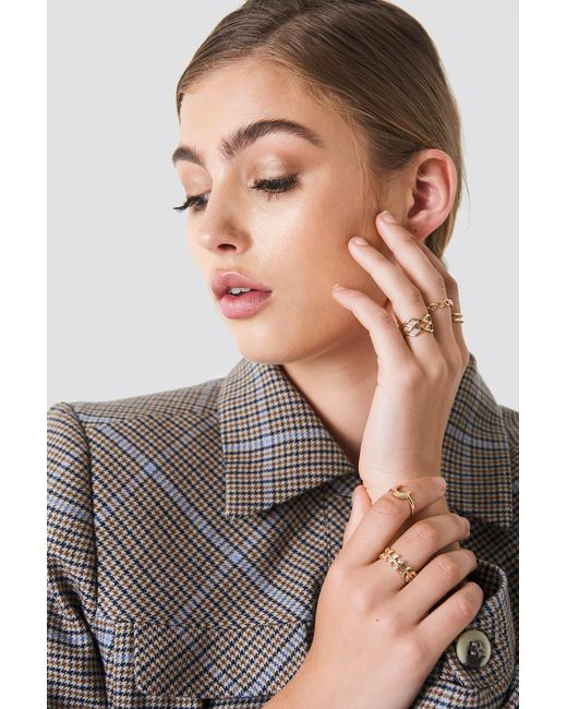 NA-KD - Metallic Stackable Variety Rings - Lyst