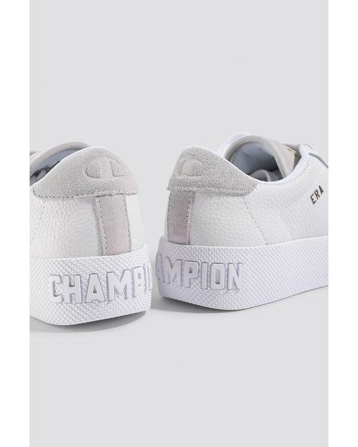 507342e3b7c9b Champion Era Leather Sneaker S10535 White in White - Lyst