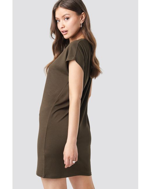 3e92f7b05365 ... NA-KD - Brown Cap Sleeve Viscose Dress Coffee - Lyst ...