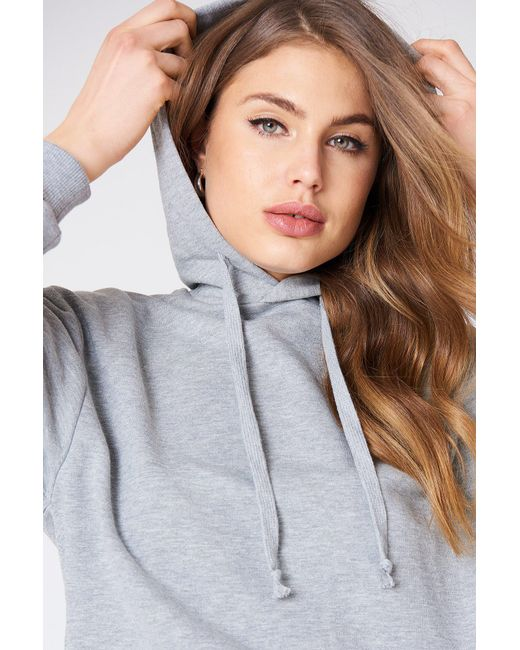 NA-KD - Gray Basic Hoodie Grey Mel - Lyst