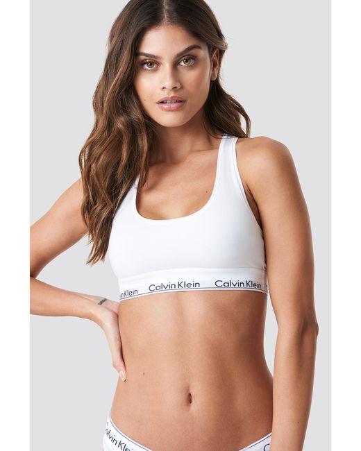 Calvin Klein - Bralette Modern Cotton White - Lyst