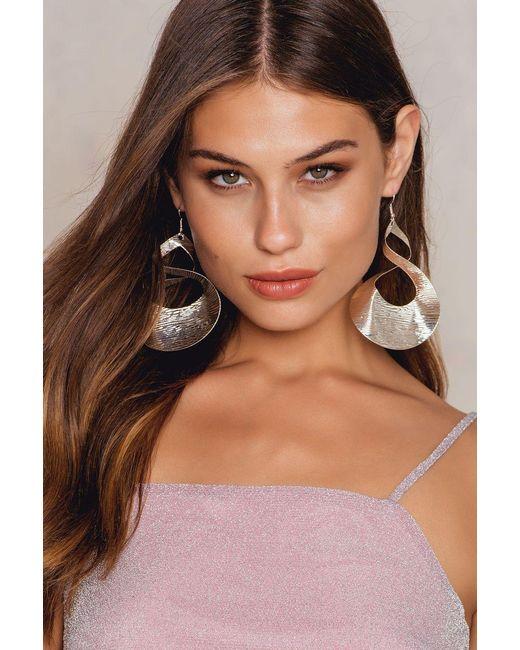 NA-KD | Metallic Big Twisted Earrings | Lyst