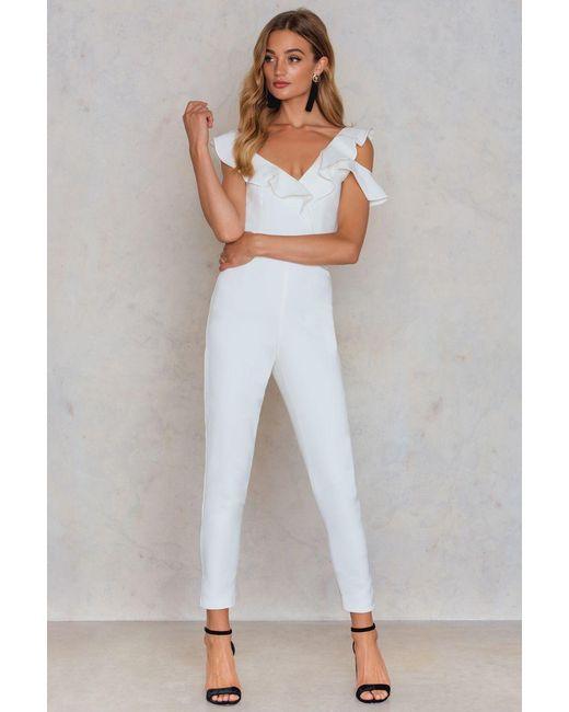 Lavish Alice | White Tailored Frill Jumpsuit | Lyst