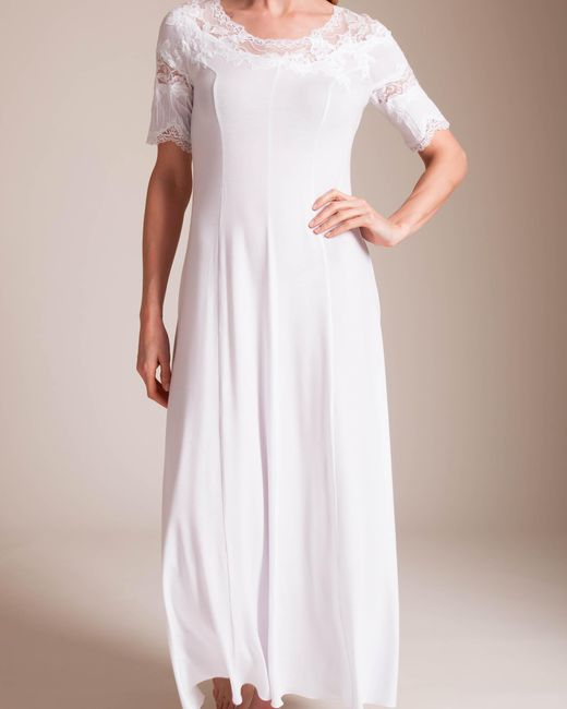 Paladini Couture - White Jersey Intarsio Jennifer Long Gown - Lyst