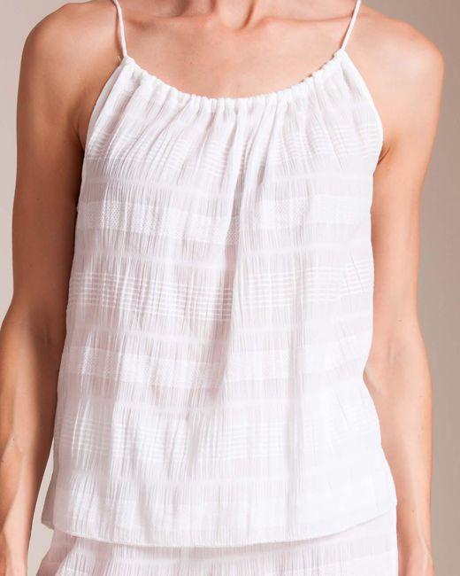 Skin - White Textured Gauze Nadia Camisole - Lyst