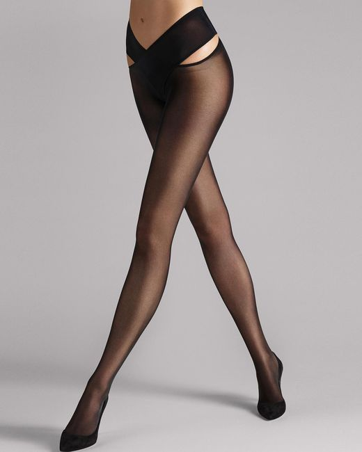 Wolford - Black Stay Hip Tights - Lyst