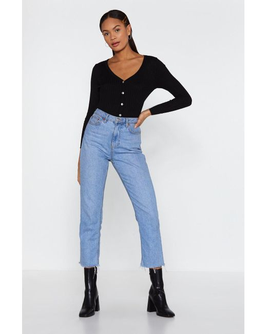 295d8a8da40 Lyst - Nasty Gal No Chills Cropped Button-down Cardigan in Black