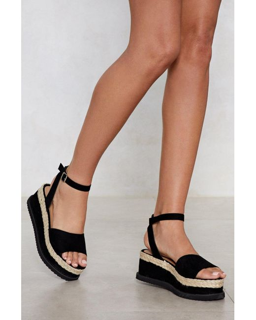Nasty Gal - Black What Goes Up Platform Sandal - Lyst
