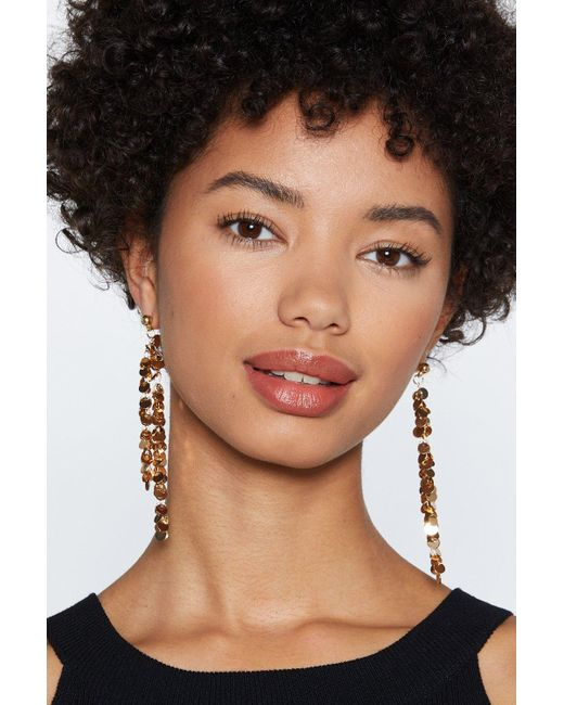 Nasty Gal - Metallic Full Circle Earrings - Lyst
