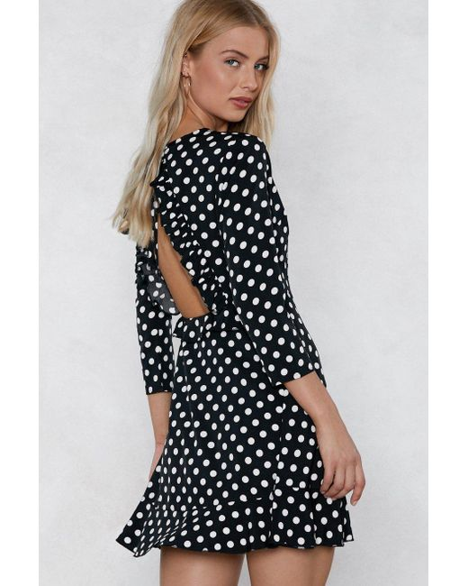 Nasty Gal - Black See You In A Mini Polka Dot Dress - Lyst