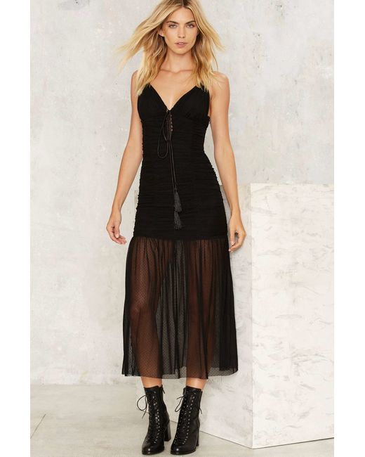 Nasty Gal | Black Nice To See You Sheer Dress | Lyst