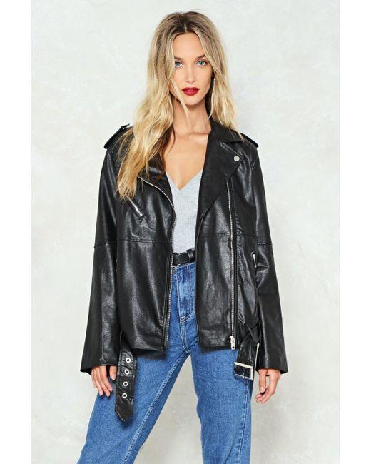 Nasty Gal - Black Oversize Moto Jacket Oversize Moto Jacket - Lyst