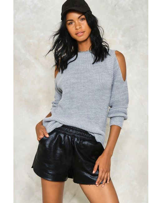 Nasty Gal   Gray Knit While You're Ahead Sweater   Lyst