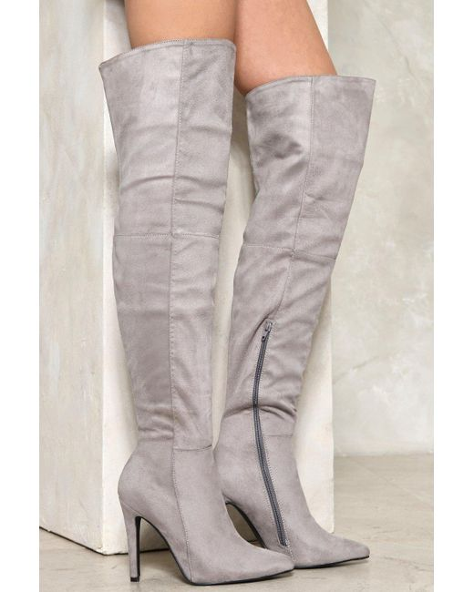 Nasty Gal | Gray Legs For Days Stiletto Boot Legs For Days Stiletto Boot | Lyst