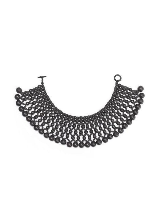 Natori | Black Josie Six Layer Beaded Necklace | Lyst
