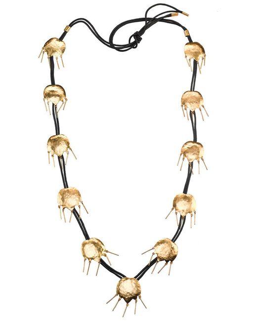 Natori - Metallic Josie Gold Brass Tulip Necklace - Lyst