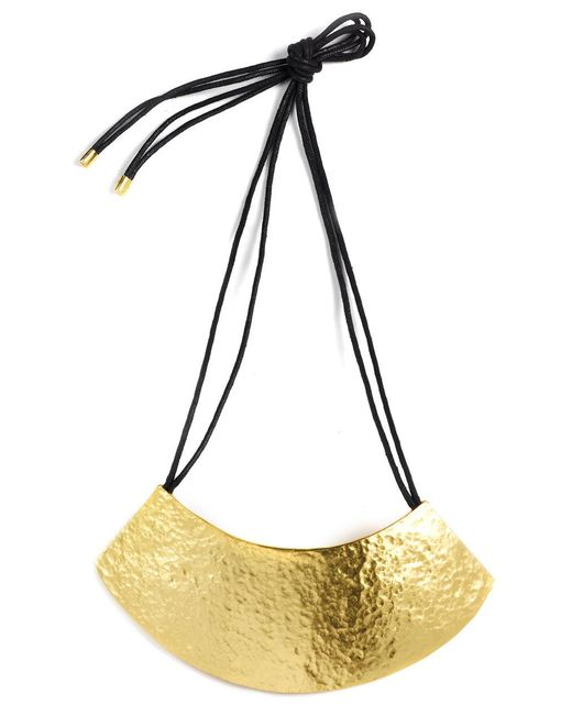 Natori - Metallic Gold Geo Necklace - Lyst