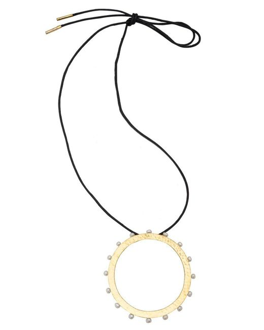 Natori - Metallic Josie Brass & Mother Of Pearl Necklace - Lyst