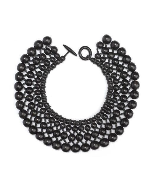 Natori - Black Josie Four Layer Beaded Necklace - Lyst