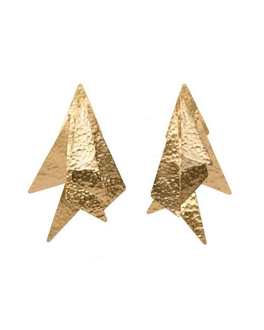 Natori | Metallic Josie Goldplated Brass Geometric Earrings | Lyst