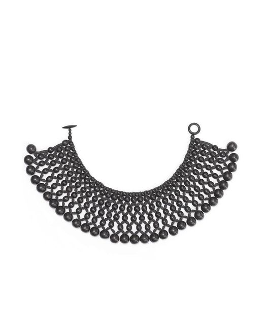 Natori | Black Josie Six Layer Beaded Necklace | Lyst