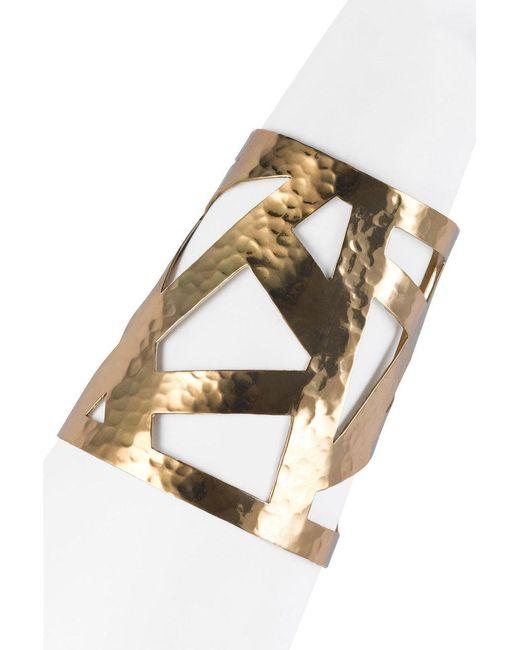 Natori   Metallic Josie Geometric Gold Cuff   Lyst