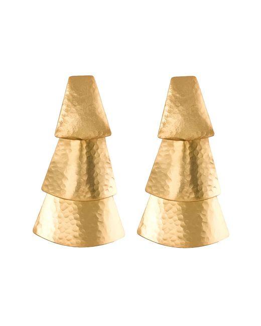 Natori | Metallic Hammered Gold Triangle Earrings | Lyst