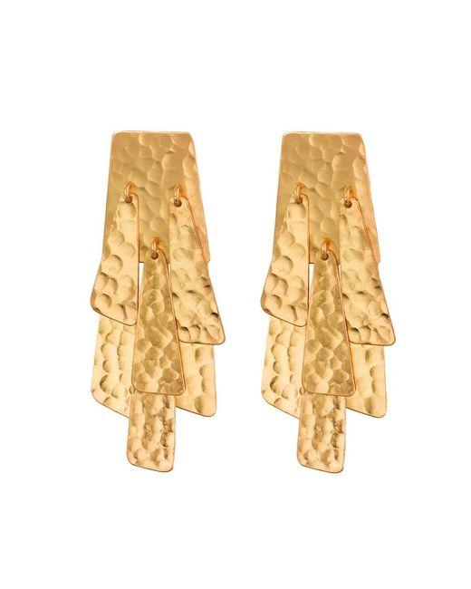 Natori | Metallic Hammered Gold Waterfall Earrings | Lyst