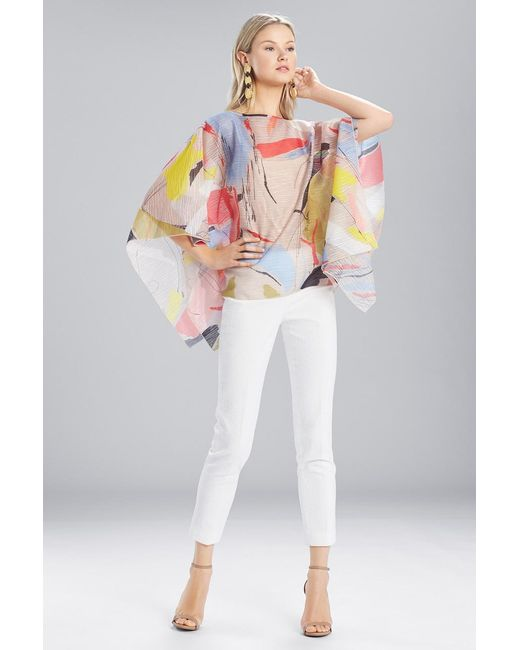 Natori - Multicolor Josie Printed Gauze Caftan Top - Lyst