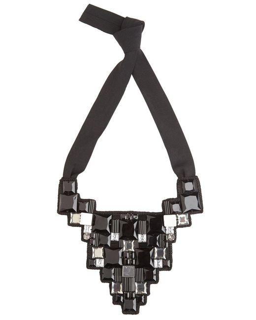 Natori - Black Josie Geometric Necklace - Lyst