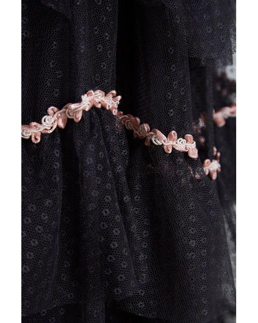 09ab9d4dcb ... Lyst Needle   Thread - Black Venetian Scallop Dress ...