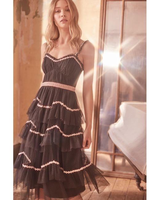 6fc39feca0 ... Needle   Thread - Black Venetian Scallop Dress - Lyst
