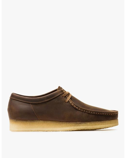 Clarks - Brown Wallabee Beeswax Leather Chukka Boots for Men - Lyst